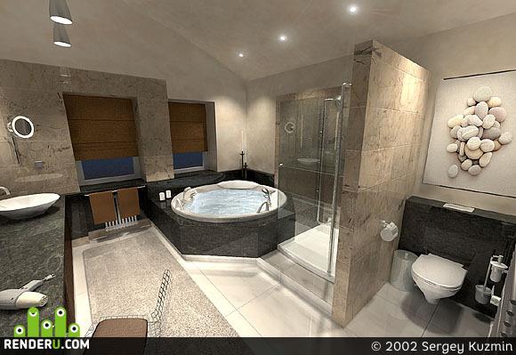 preview Хозяйская ванная в загородном доме