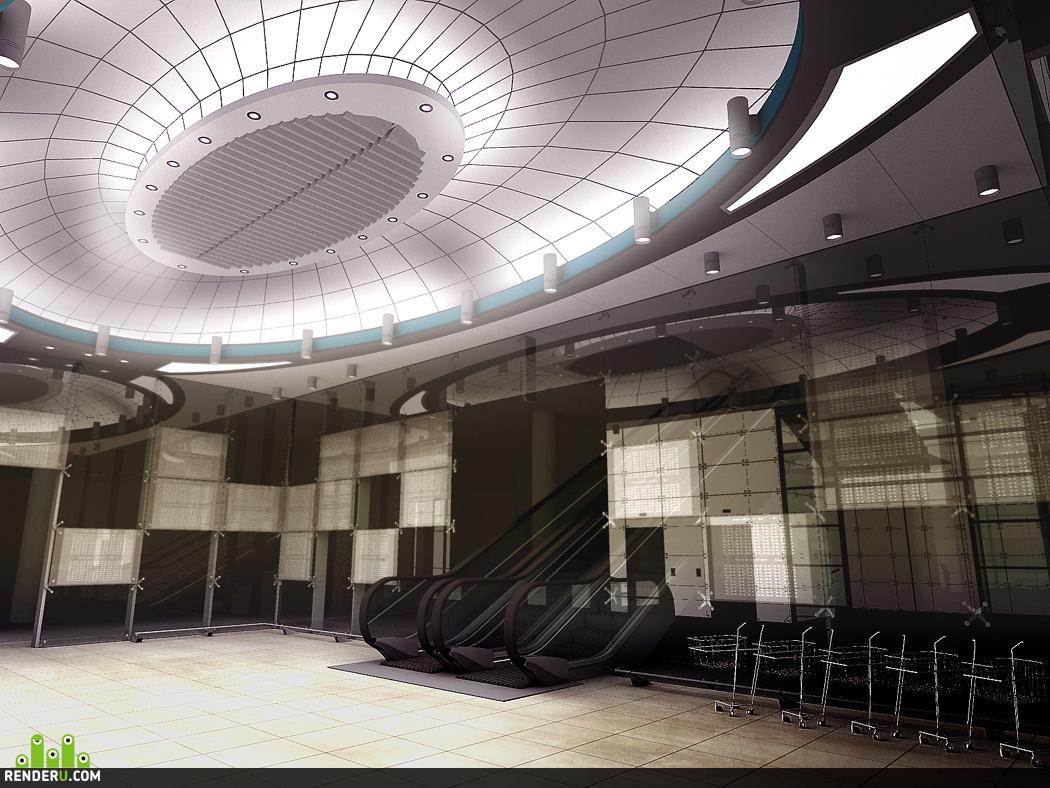 """preview Потолок торгового комплекса """"Воробьевы горы"""" вариант 1."""