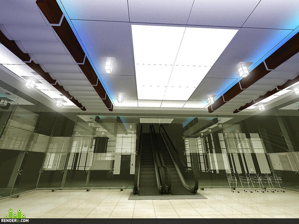 """preview Потолок торгового комплекса """"Воробьевы горы"""" вариант 2."""