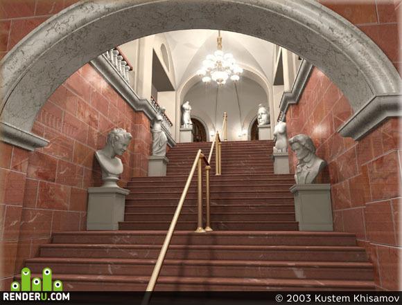 preview Реконструкция лестницы ГОМ РТ