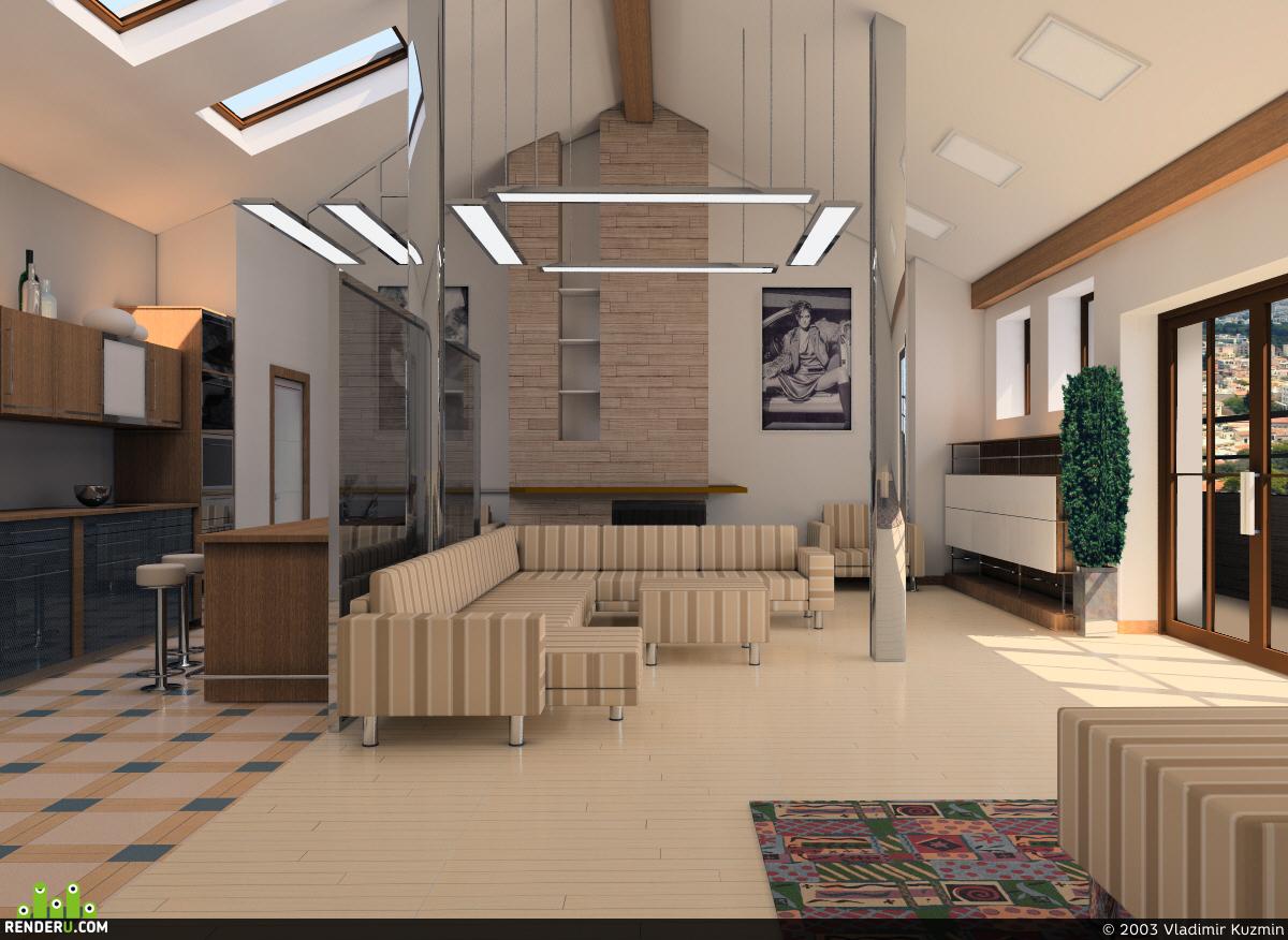 preview Квартира в крыше дома