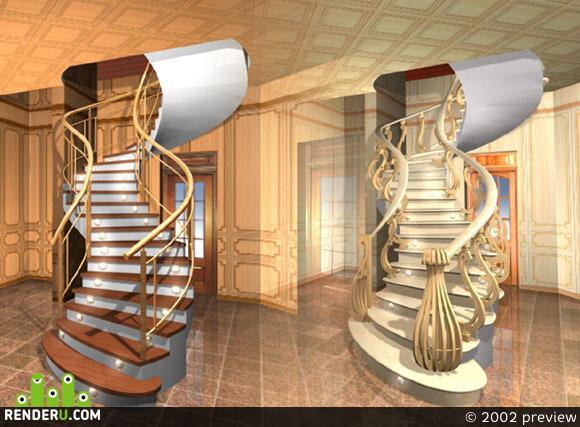 preview Лестница в ресторане