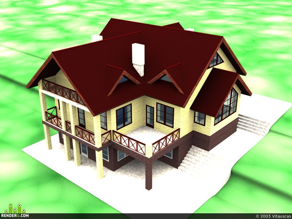 preview дом на склоне
