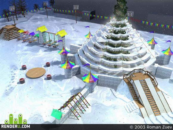 preview снежный городок