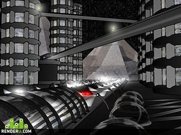 preview Планета Lioneya. Ночной город будующего