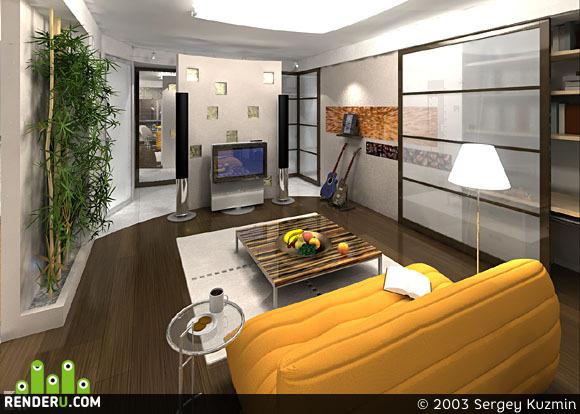 preview Гостиная небольшой квартиры