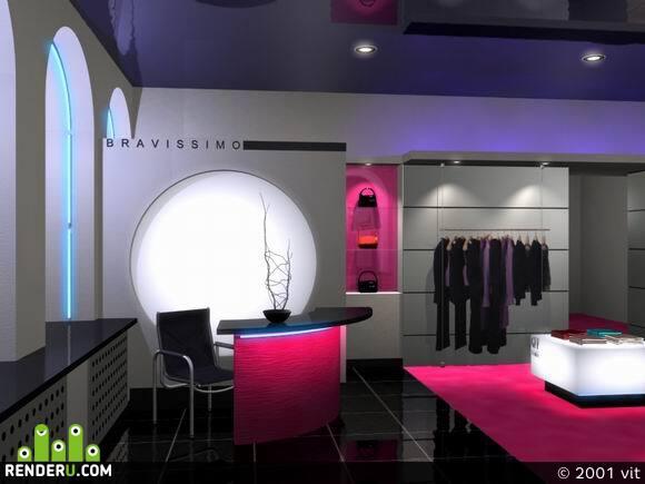 preview интерьер салона модной одежды