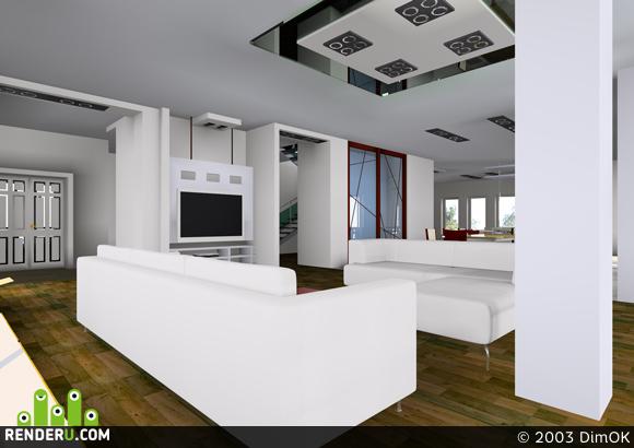 preview Интерьер Загородного жилого дома