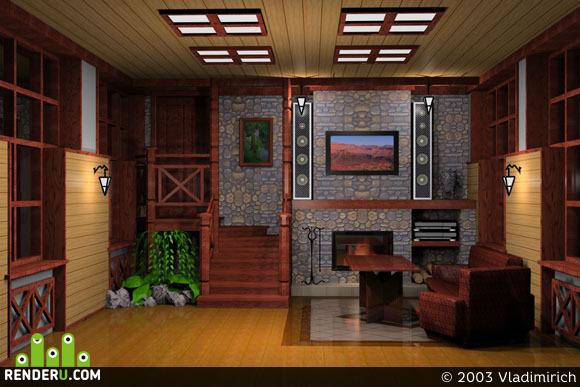 preview Каминный зал в жилом доме
