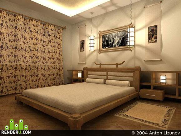 preview Спальня в японском стиле