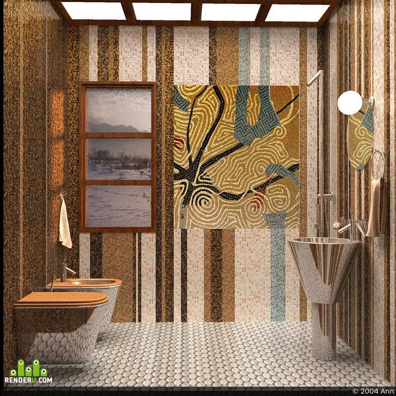 preview Мозаика в ванной комнате