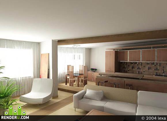 preview Комната с кухней
