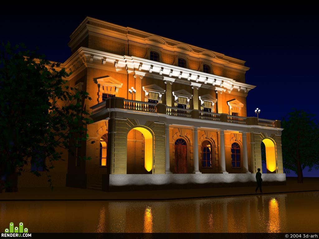 preview Архитектурно-декоративная подсветка здания.