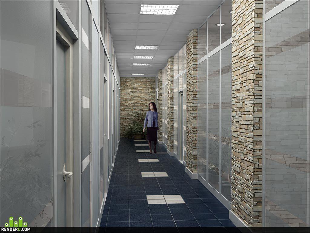 preview Офисный коридор