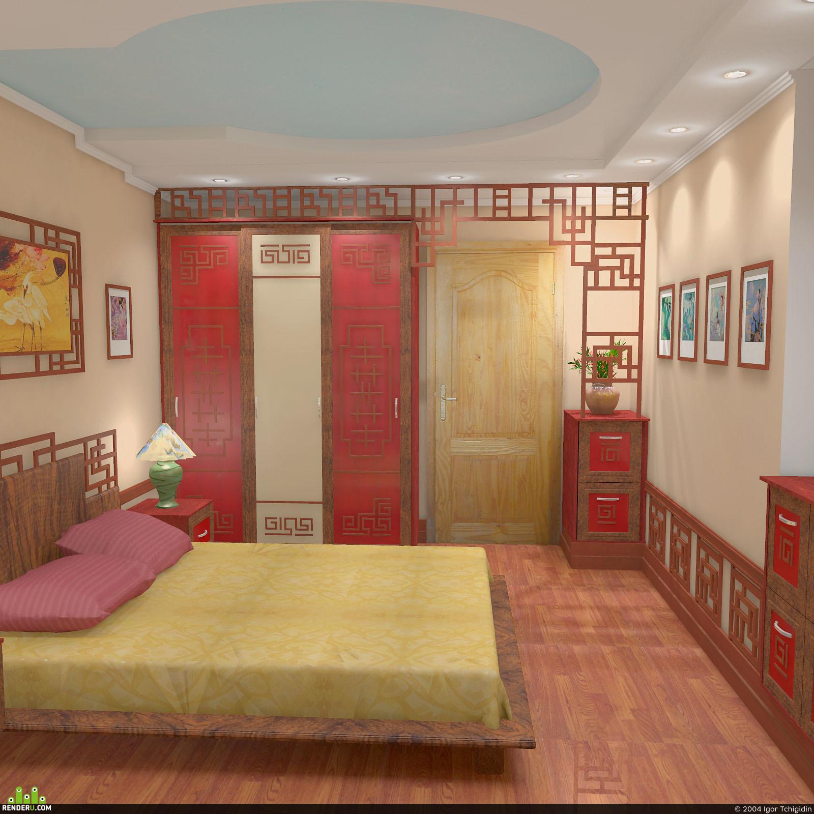 preview Спальня в китайском стиле