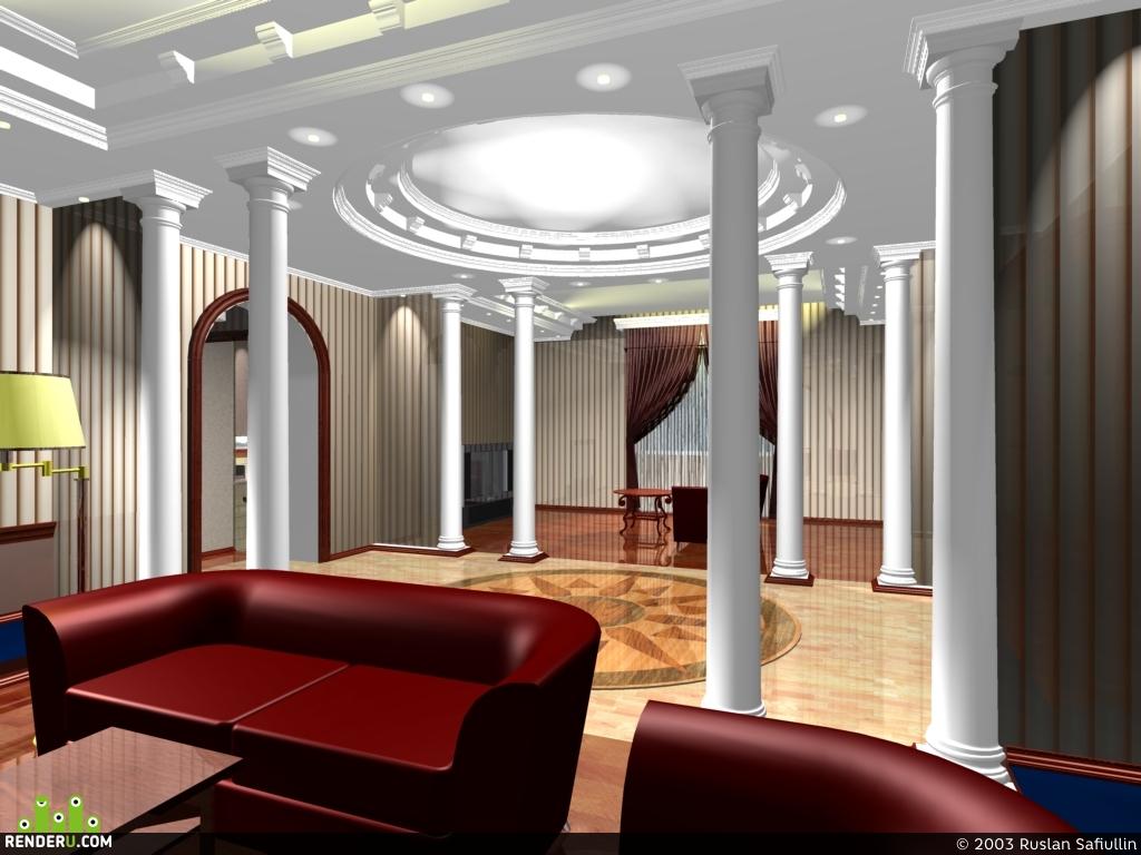 preview холл частной гостиницы