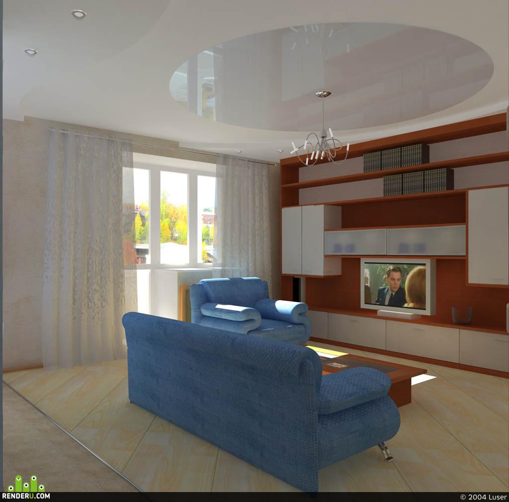 preview гостиная в квартире общ. пл. 65м2