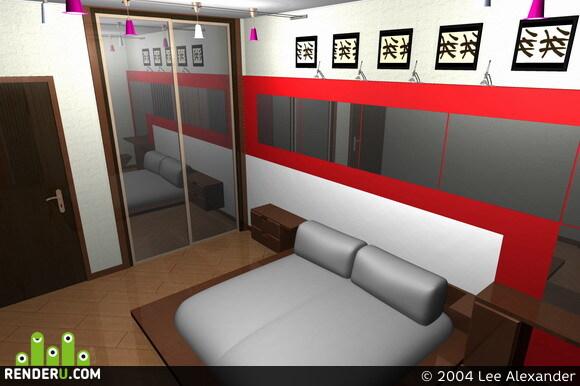 preview Спальня в маленькой квартире
