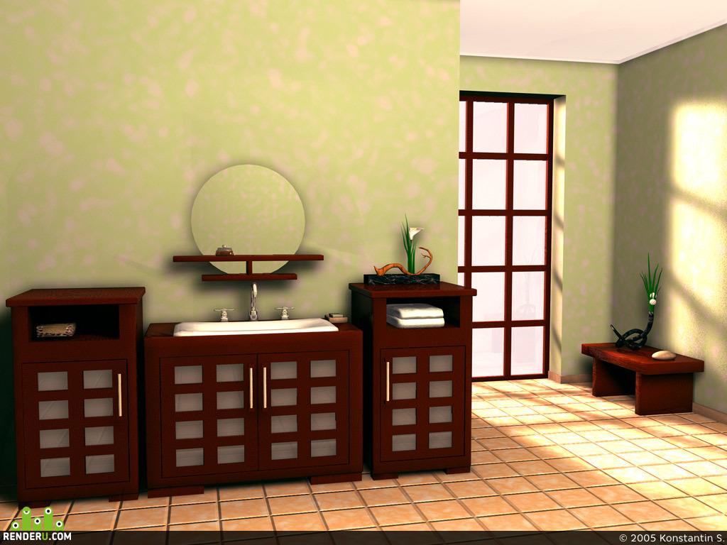 preview Ванная в японском стиле