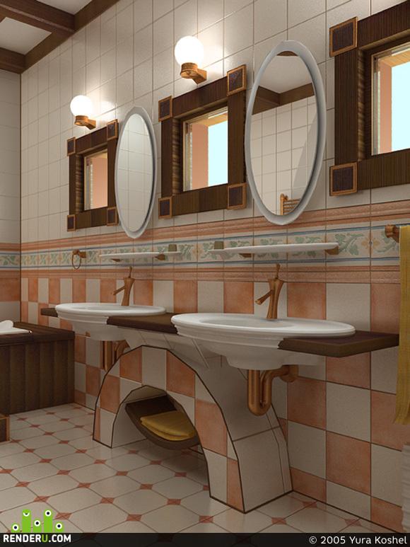 preview деревянный дом: гостевой санузел