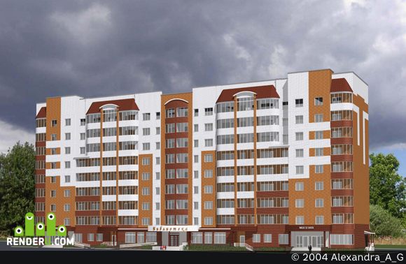 preview Жилой дом со встроенными помещениями