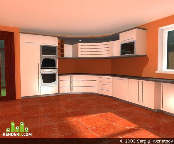 preview Кухня в загородном доме