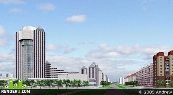 preview Центр одного северного города