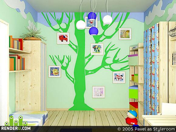preview Дерево в детской комнате