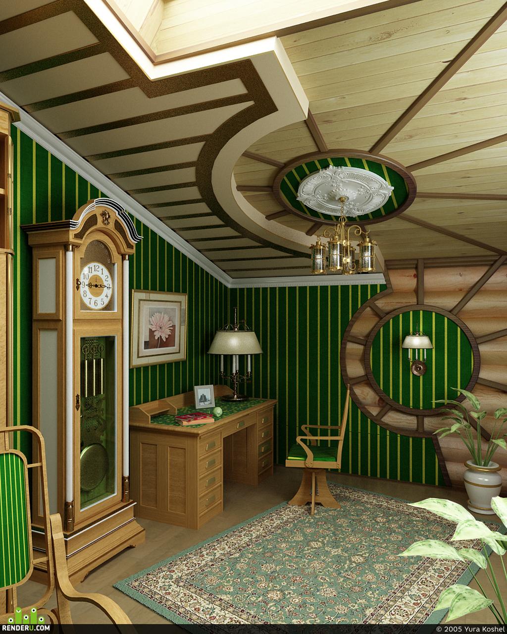 preview деревянный дом: кабинет хозяина
