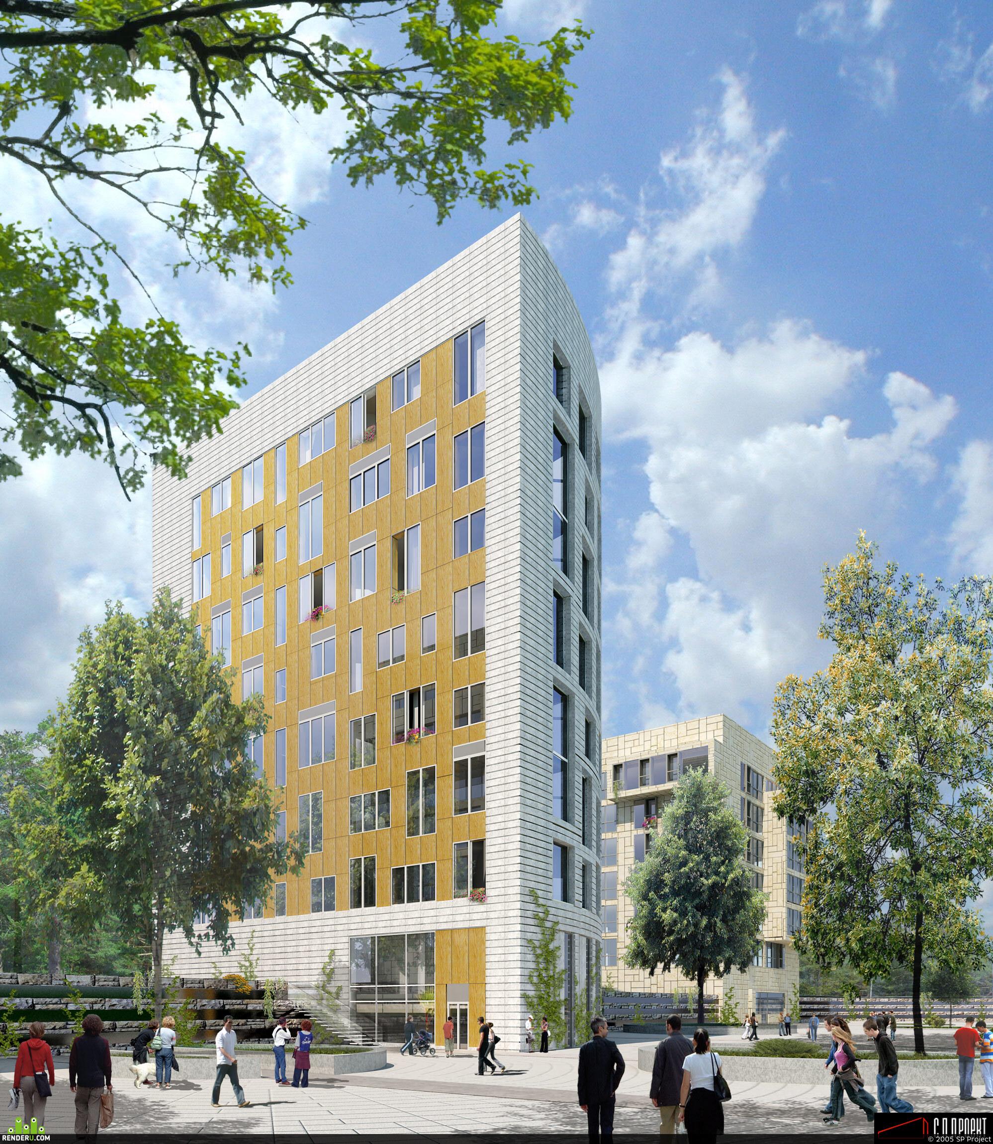 preview Визуализация жилого комплекса на Сколковском шоссе