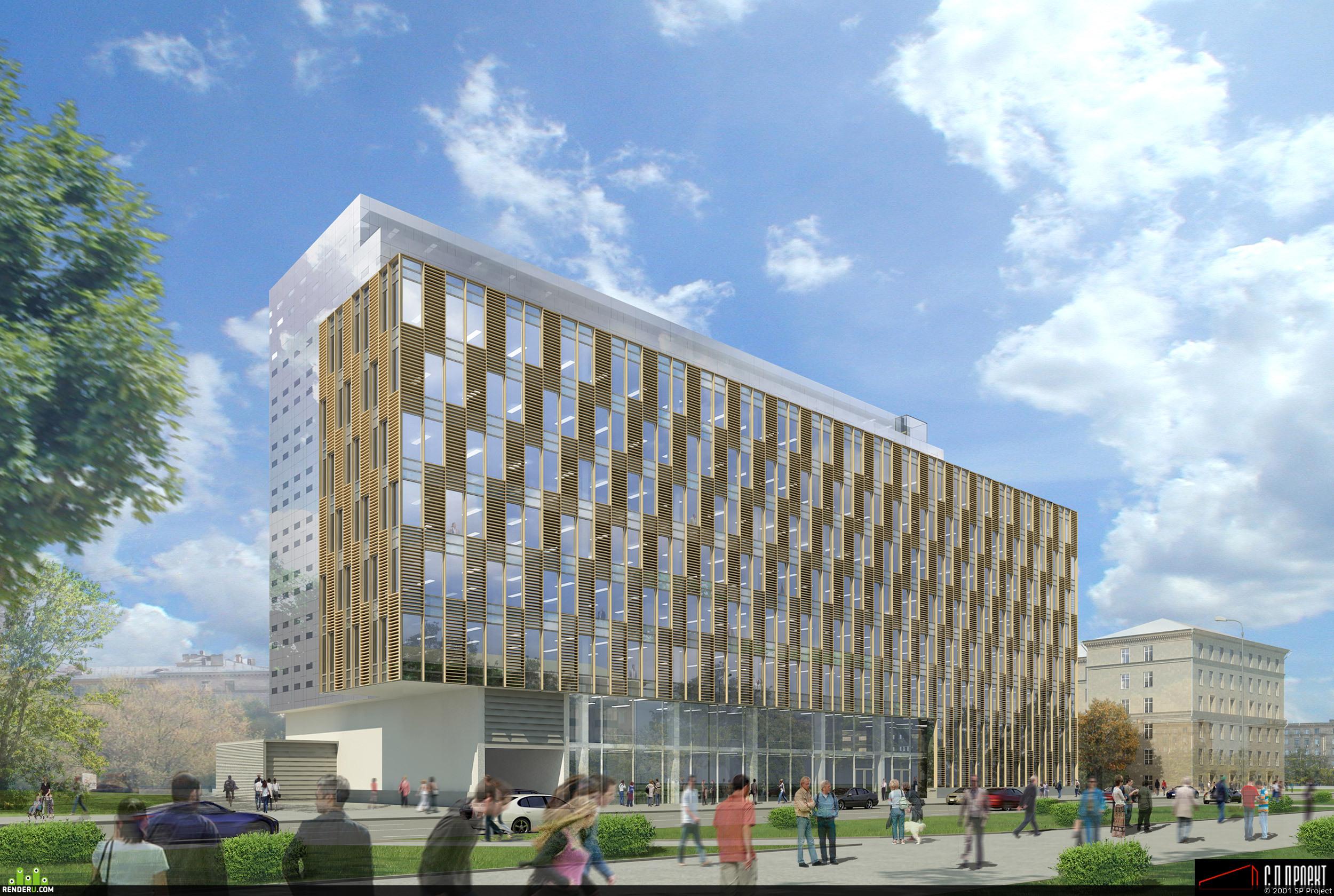 preview Визуализация офисного здания на ул. Макеева