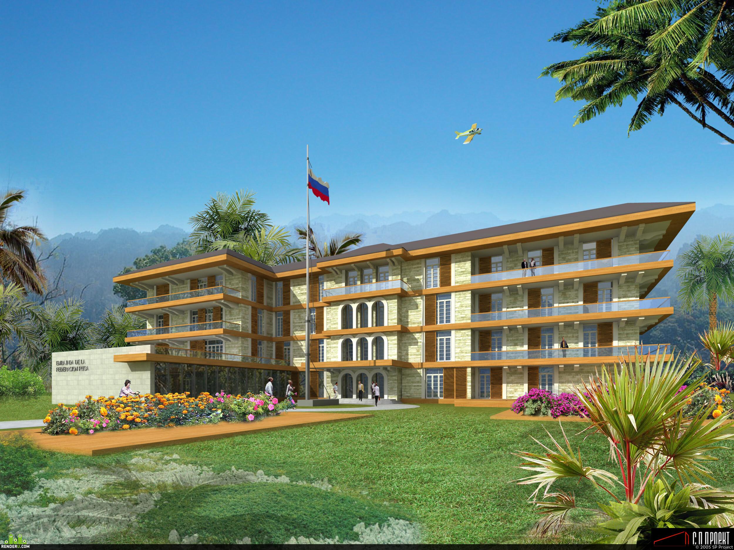 preview Визуализация предложения на проектирование посольства РФ в Панаме
