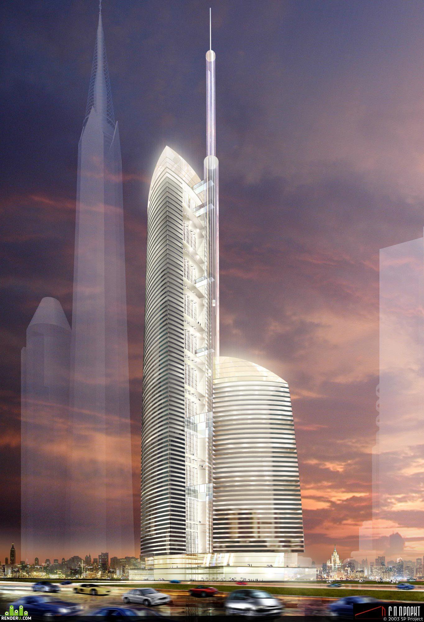 """preview Визуализация башни """"Федерация"""""""