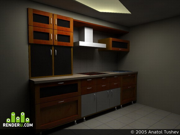 preview кухня ночью