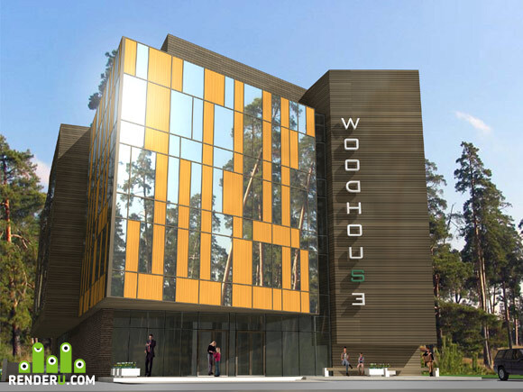 preview Проект административно-торгового комплекса в Одинцовском районе Московской области , в деревне Жуковка