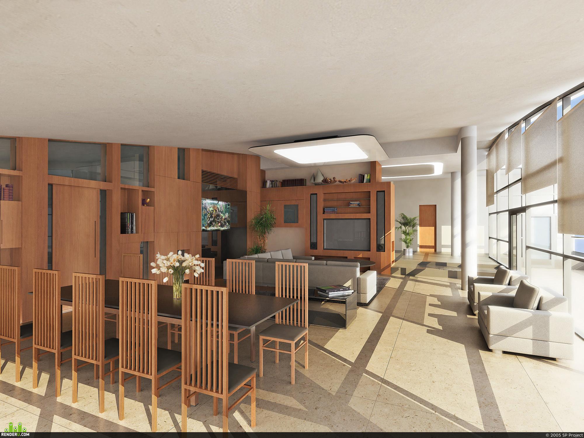 preview Визуализация интерьера элитного дома