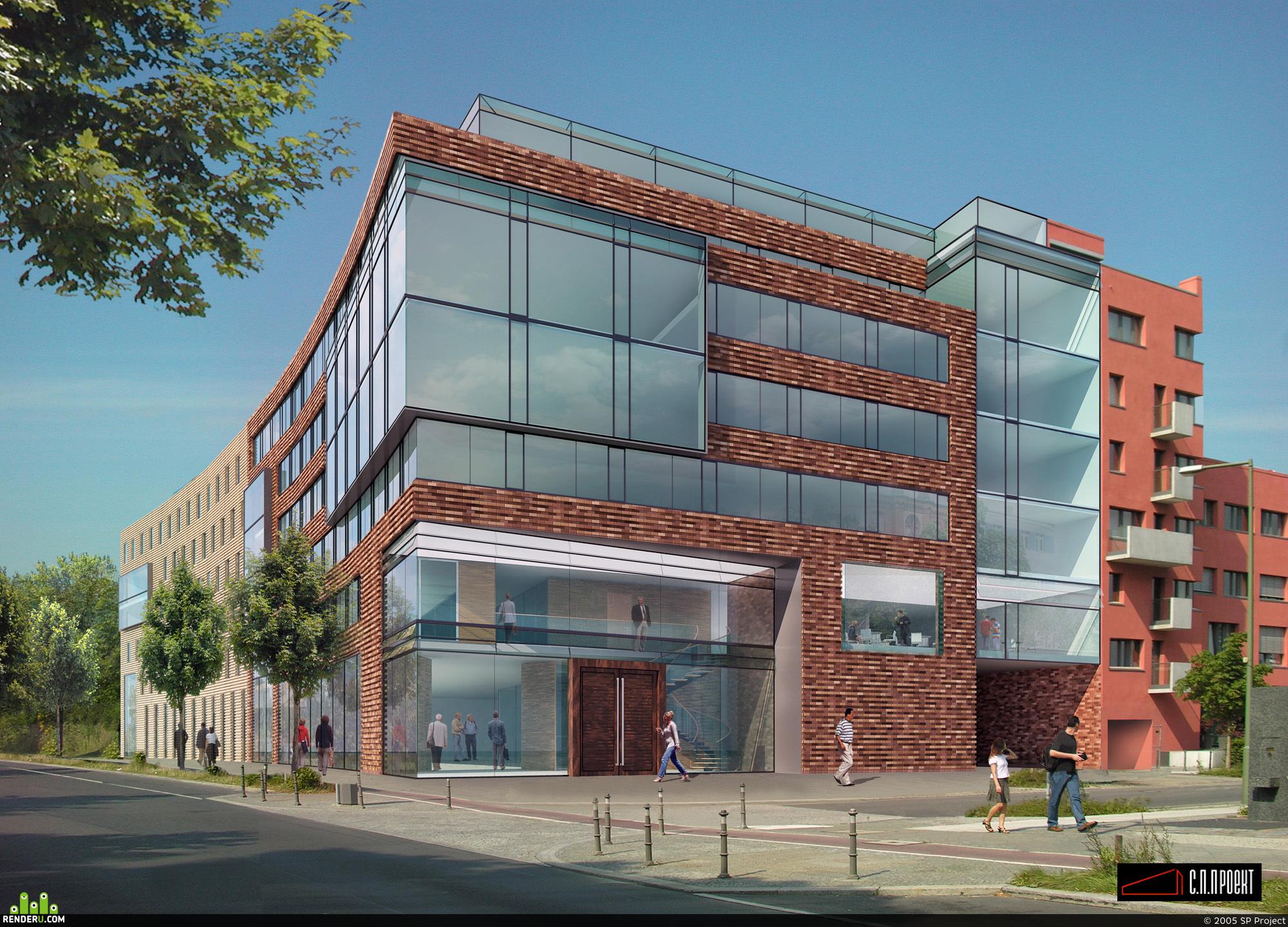 preview Визуализация административного здания в Германии