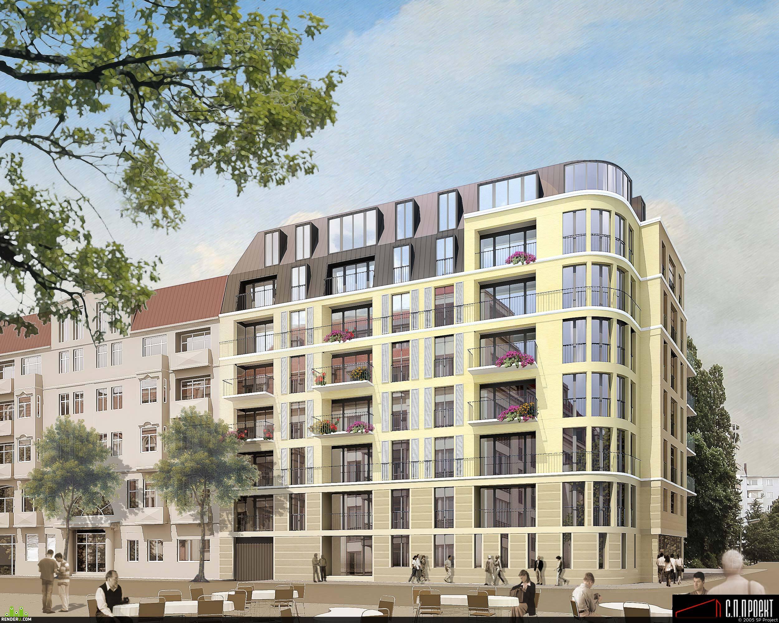 preview Визуализация жилого здания в Германии