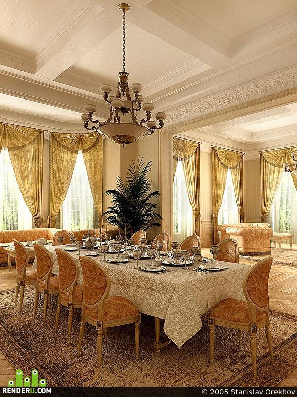 preview гостиная в классическом стиле. вириант 1.