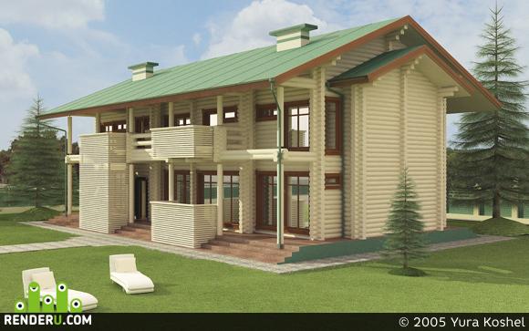 preview экстерьер деревянного дома