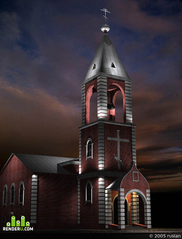 preview Проект подсветки церковь