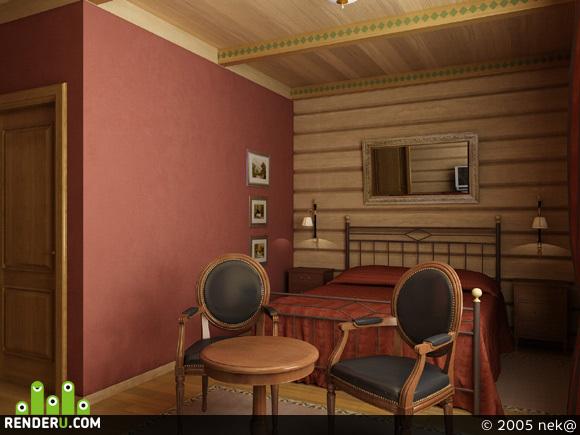 preview Спальня в загародном доме II