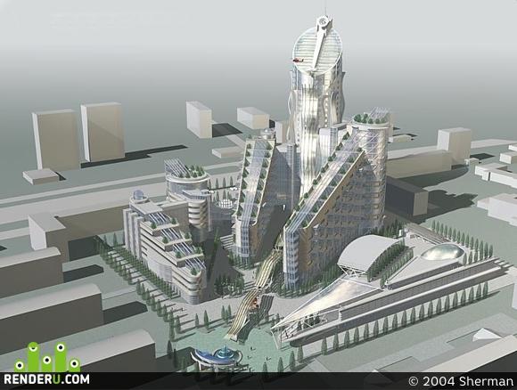preview Конкурсный проект на Многофункциональный жилой комплекс на Проспекте Мира в г. Москва