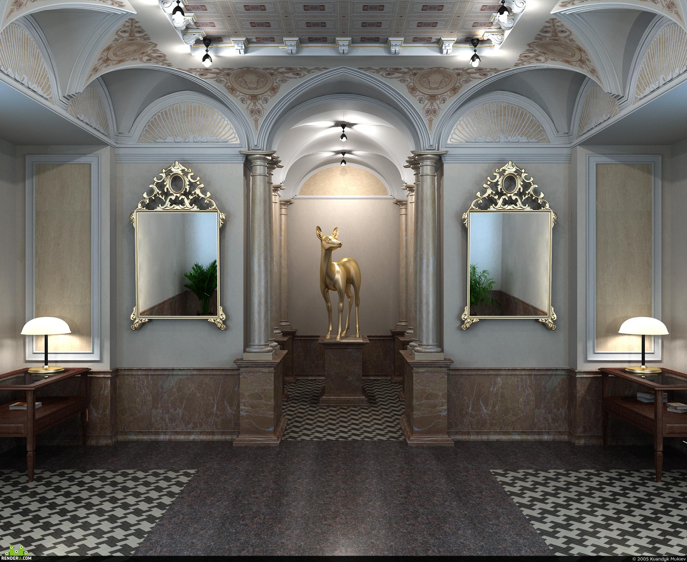 preview Скулптура в классическом интерьере