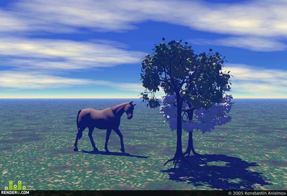 preview Лошадь в степи