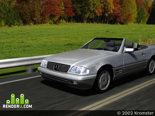 preview Mercedes Sl 600 on road