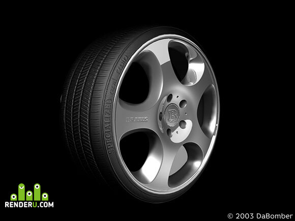 preview Brabus style alloy wheel