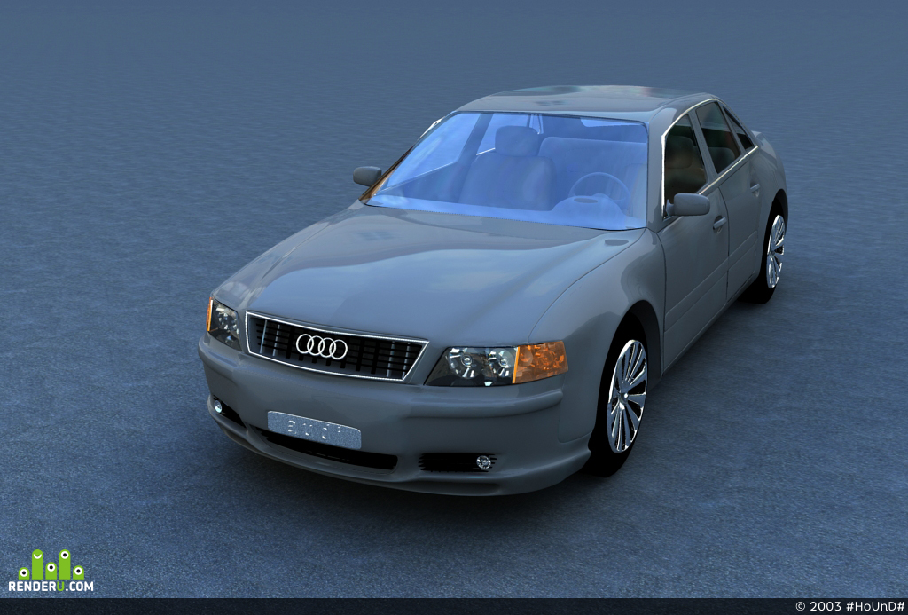 preview Audi A8 тюннинг неизвестного мастера.