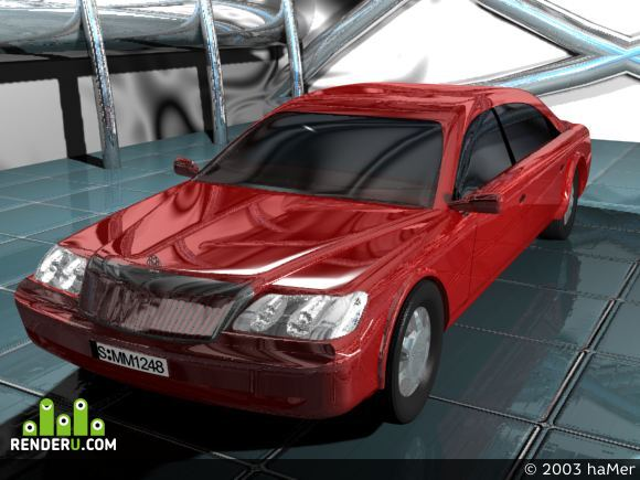 preview RED and SILVER car