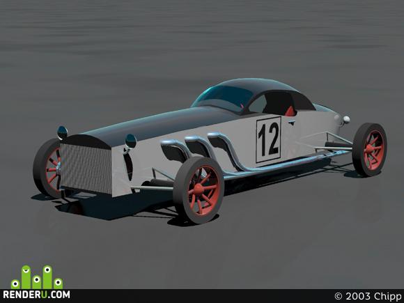 preview Retro sport car